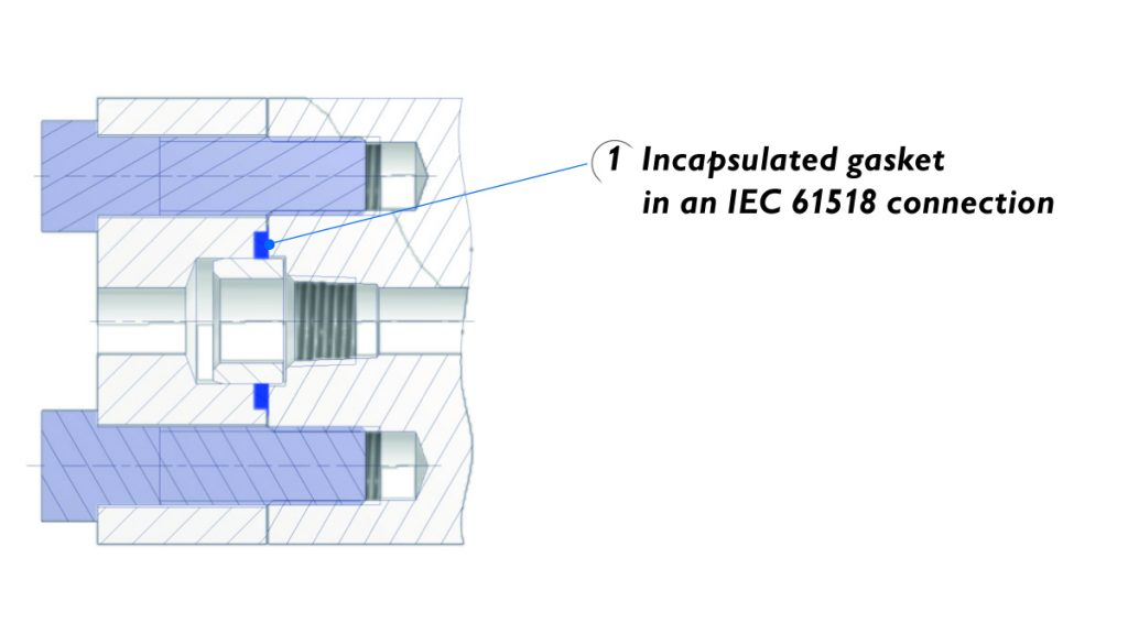 Cathodic protection - Dielectric isolation kit and incapsulated gasket acc. to standard IEC 61518.