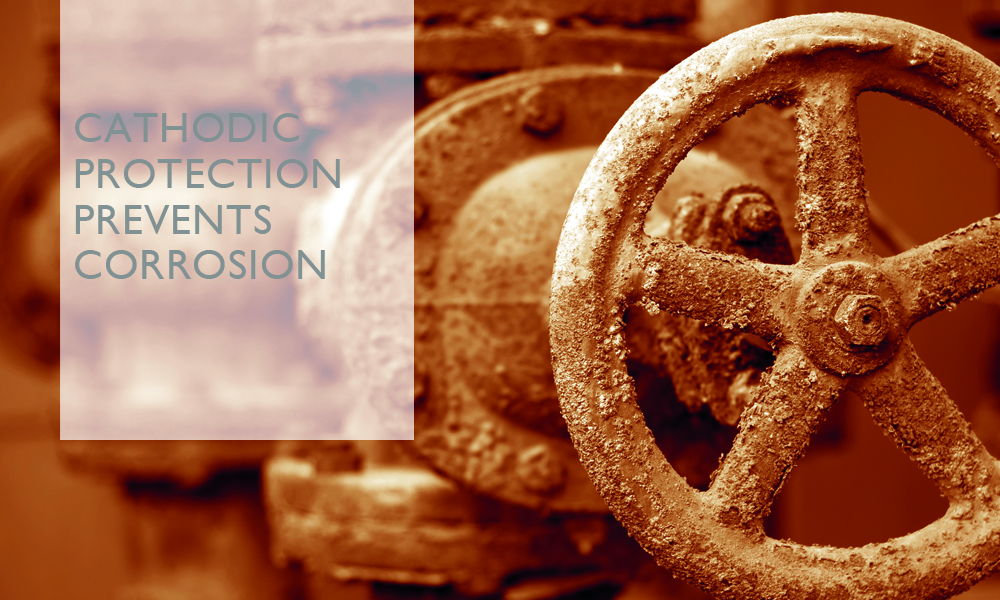 How can cathodic protection prevent corrosion?