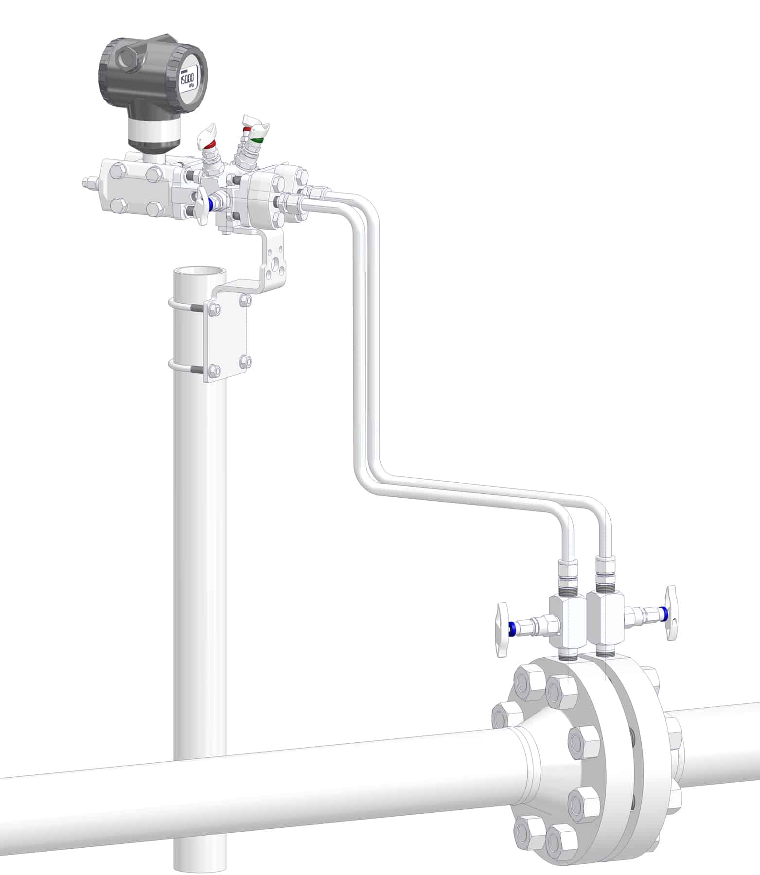 DirectMountSystem - Conventional Installation with impulse piping.
