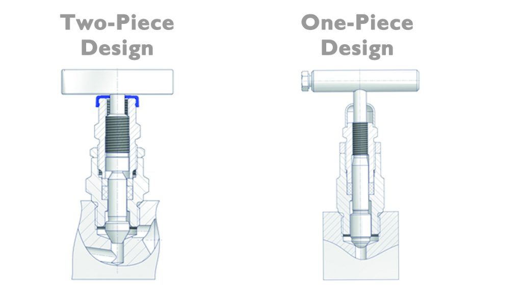 DirectMountSystem - Difference between a One-Piece Design and a Two-Piece Design Stem.
