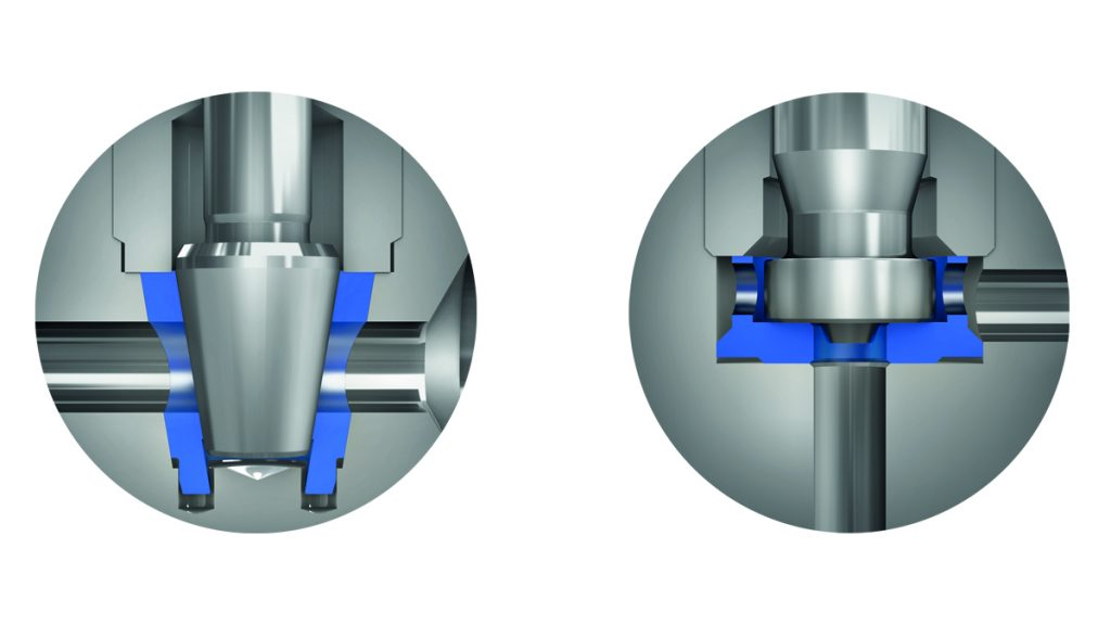 DirectMountSystem - Comparison of Soft Seated Valve Options (Cone and Cup Design).