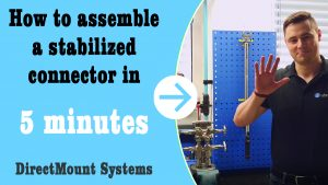 "DirectMountSystem – Youtube thumbnail for video ""How to assemble a stabilized connector in 5 minutes"""